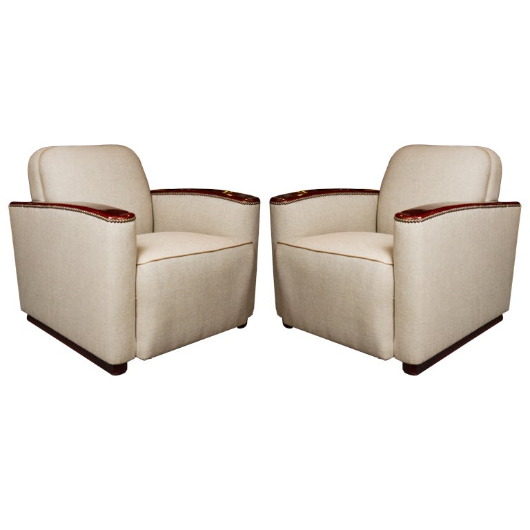 Club Chairs in the Manner of Paul Frankl For Sale at 1stdibs