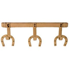 Unusual Jacques Adnet  Coat Hanger.