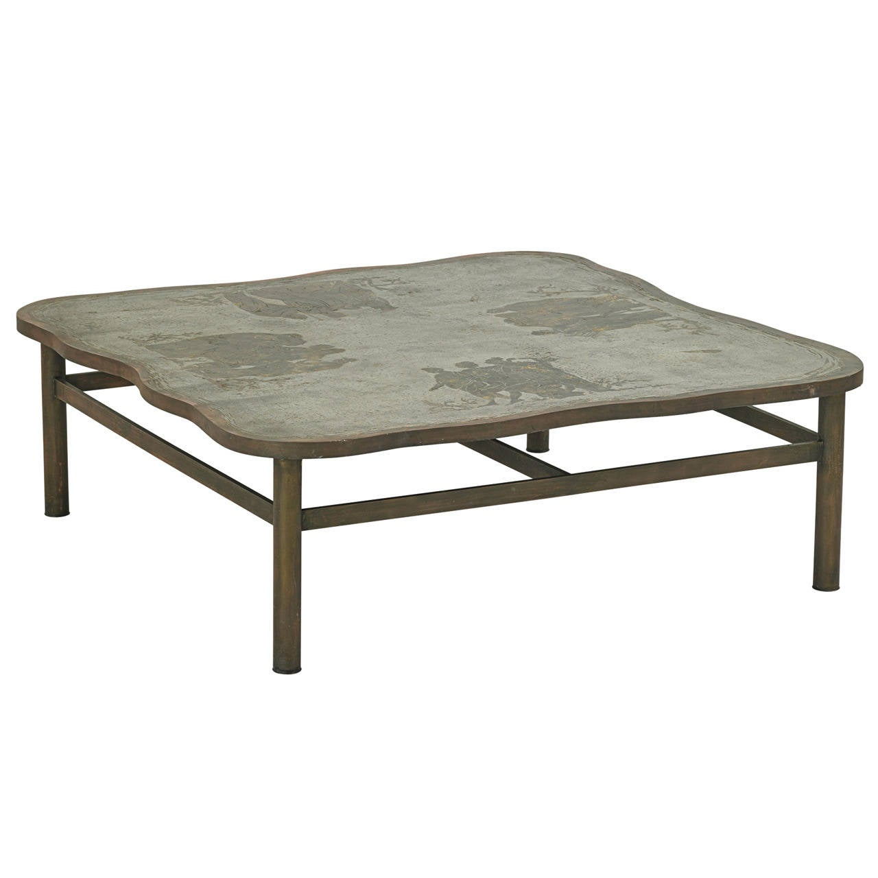 Very Rare Romanesque Coffee Table By Philip And Kelvin