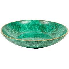 Faux-Malachite Porcelain Bowl by Christian Dior