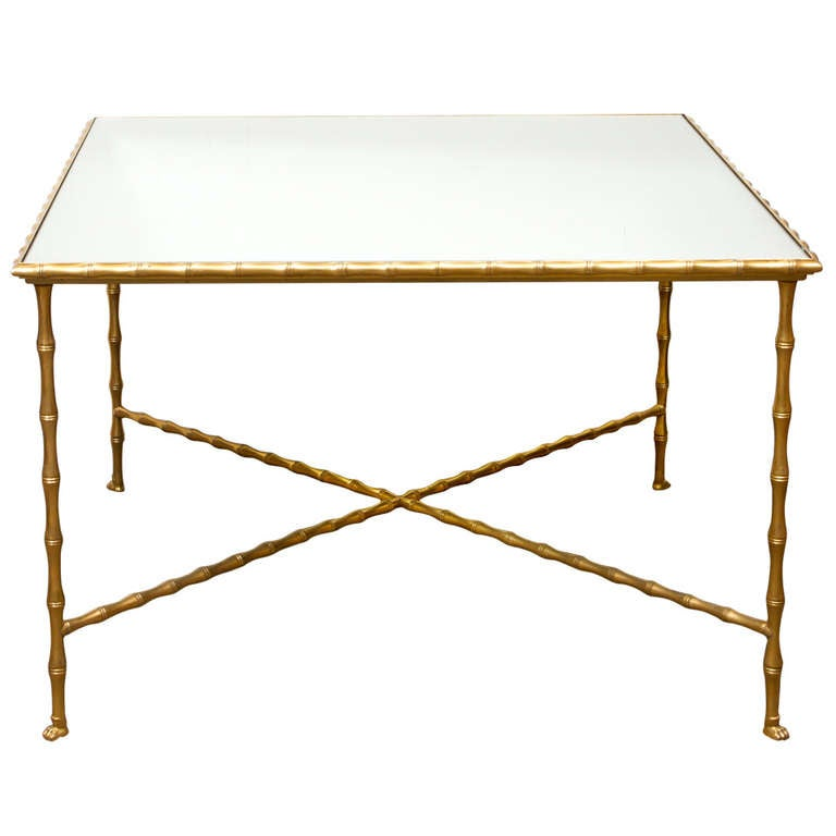 Faux Bamboo Coffee Table By Maison Bagues For Sale At 1stdibs