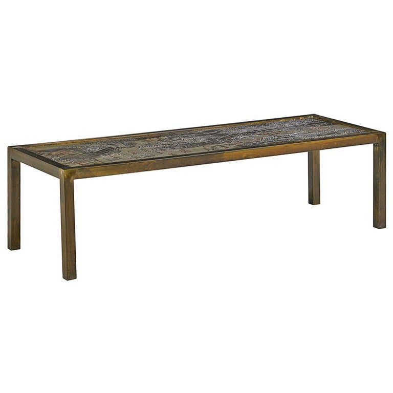 "Beautiful Philip and Kelvin LaVerne ""Chan"" Coffee Table For Sale"