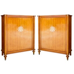 Rare Pair of Cabinets by Jules Leleu