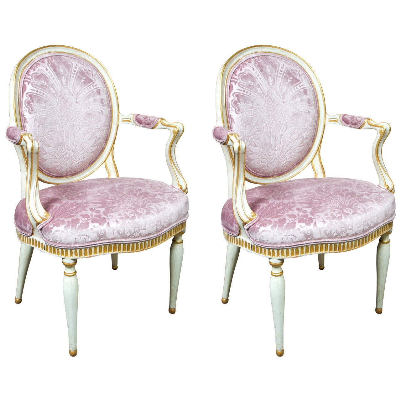 Pair Of Italian Neoclassical Chairs For Sale At 1stdibs