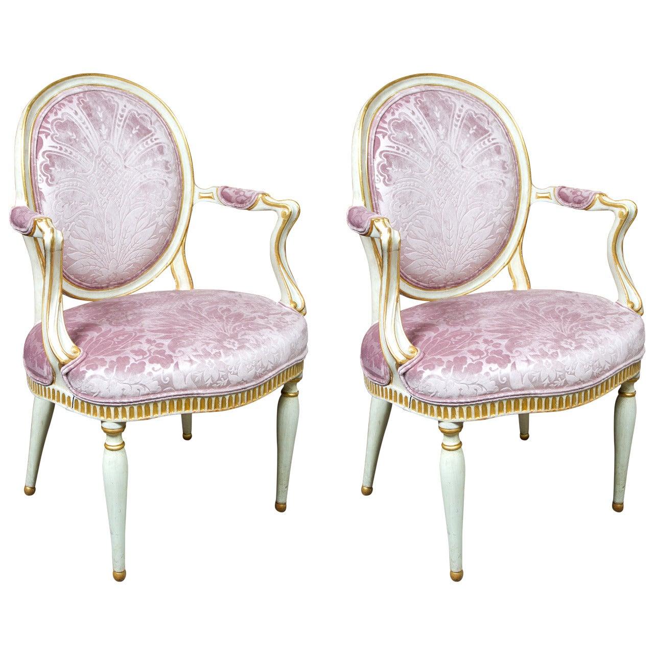 Pair of Italian Neoclassical Chairs