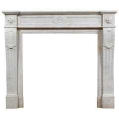 Louis XVI Marble Mantel