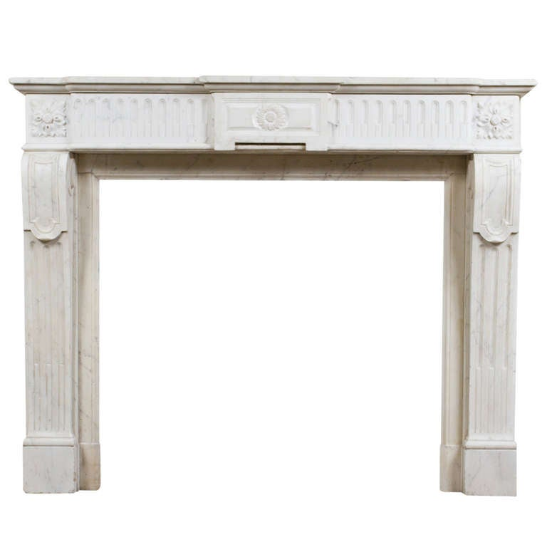 Louis XVI Marble Mantle For Sale
