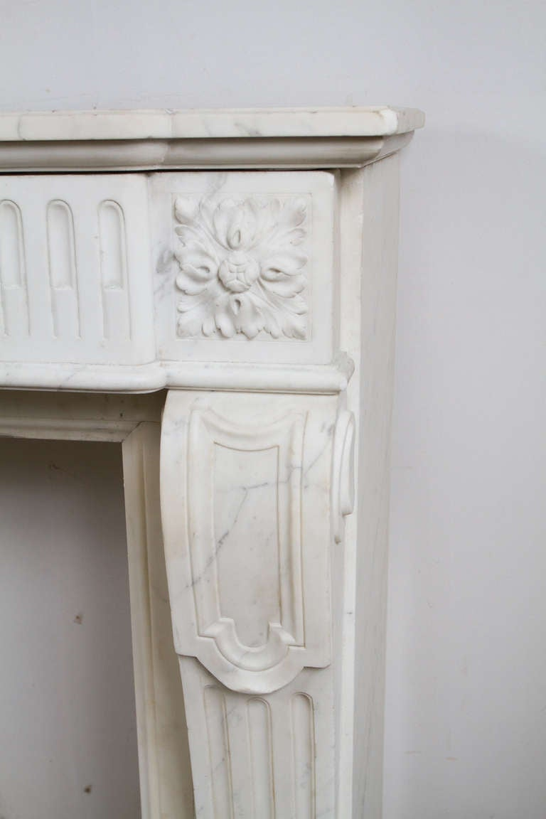 19th Century Louis XVI Marble Mantle For Sale