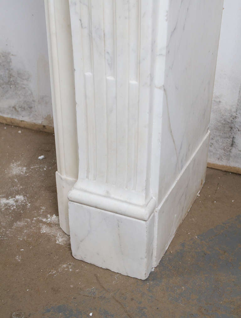 Louis XVI Marble Mantle For Sale 1