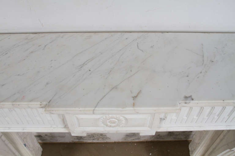 Louis XVI Marble Mantle For Sale 5