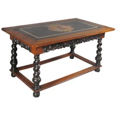 Baroque Armorial Hall Table