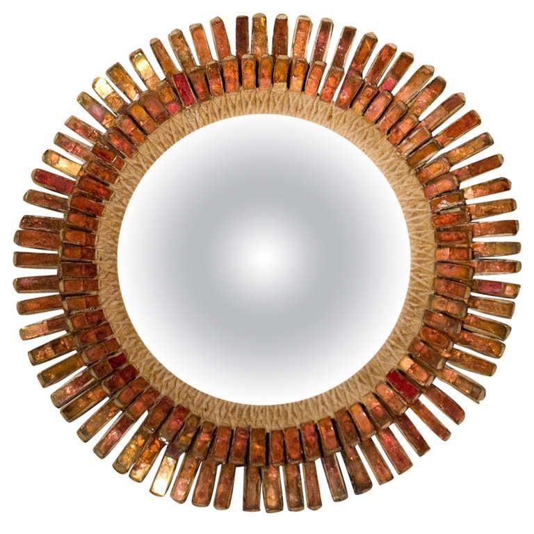 Rare mirror by line vautrin at 1stdibs for Miroir line vautrin