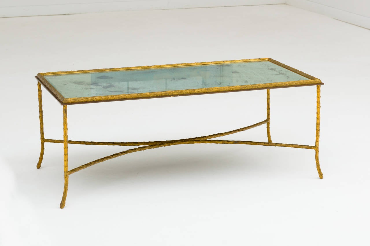 Elegant Gilt Bronze Coffee Table By Maison Bagues At 1stdibs