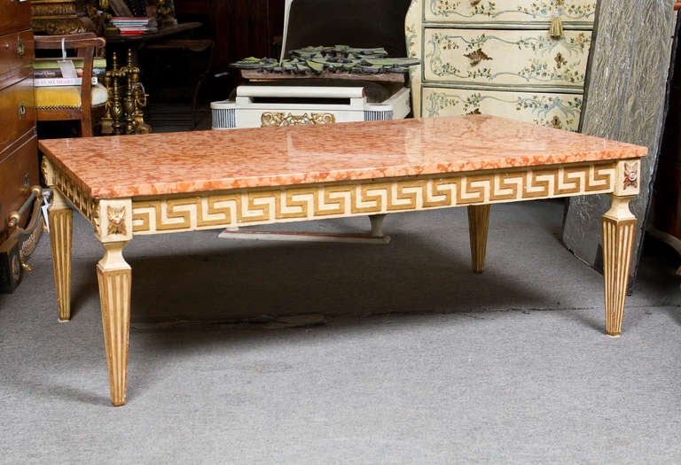 Italian Mid Century Neoclassical Coffee Table For Sale At 1stdibs