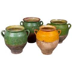 Set of Four Terracotta Olive Jars