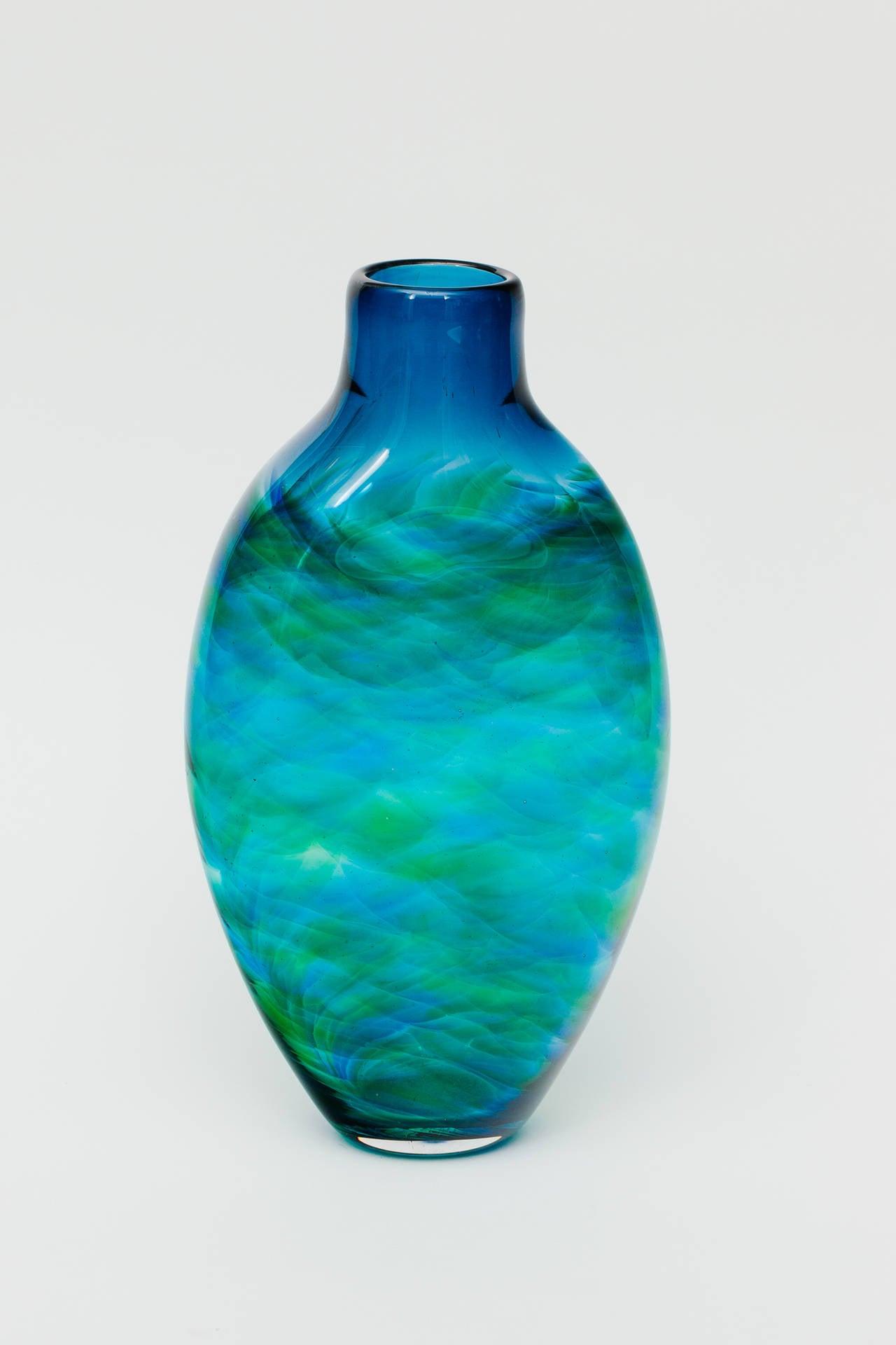 Beautiful Blown Glass Bottle Shape Vase At 1stdibs
