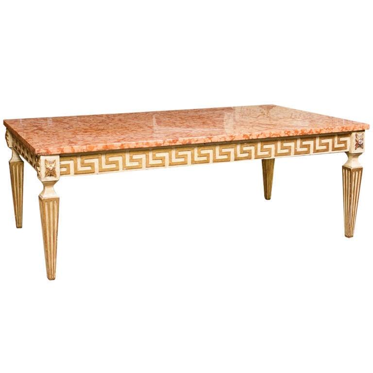 Italian Mid-Century Neoclassical Coffee Table