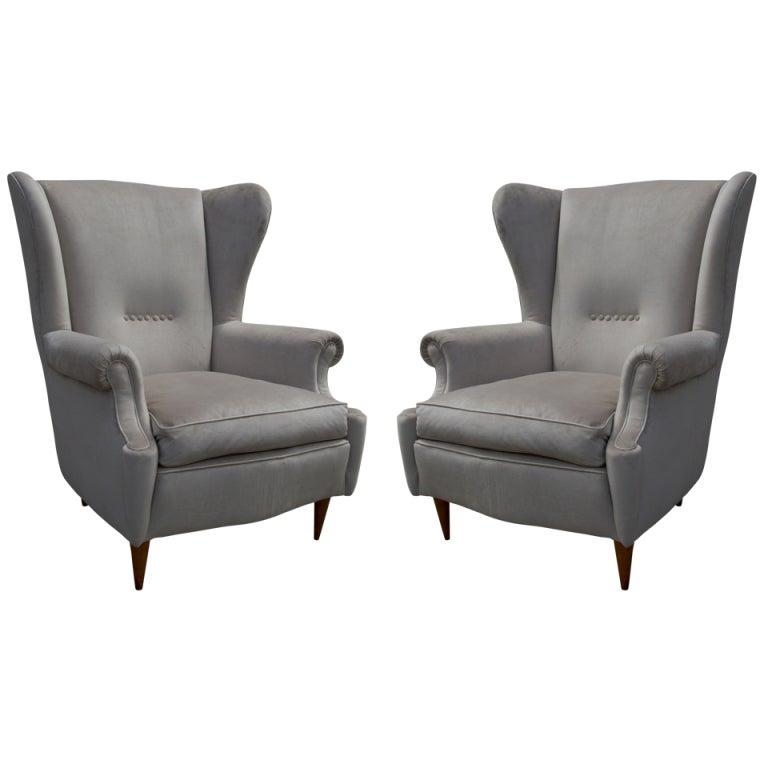 Mid Century Modern Armchairs: Mid-Century Modern Wingback Armchairs At 1stdibs