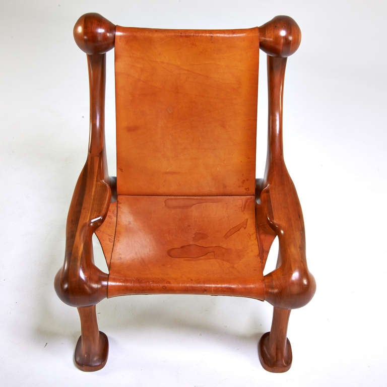 Mid-Century Modern Amazing Sculptural and Organic Lounge Chair by Martin Stan Buchner For Sale