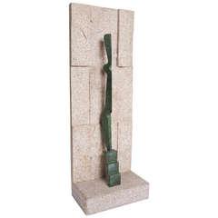 """Stylized Abstract Bronze Sculpture """"Kouros Goddess"""" by Rosengarten"""