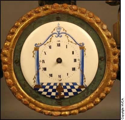 Austrian Biedermeier Period Wood and Gilt Clock For Sale