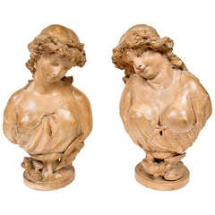 Louis XVI Style Busts after Claudion