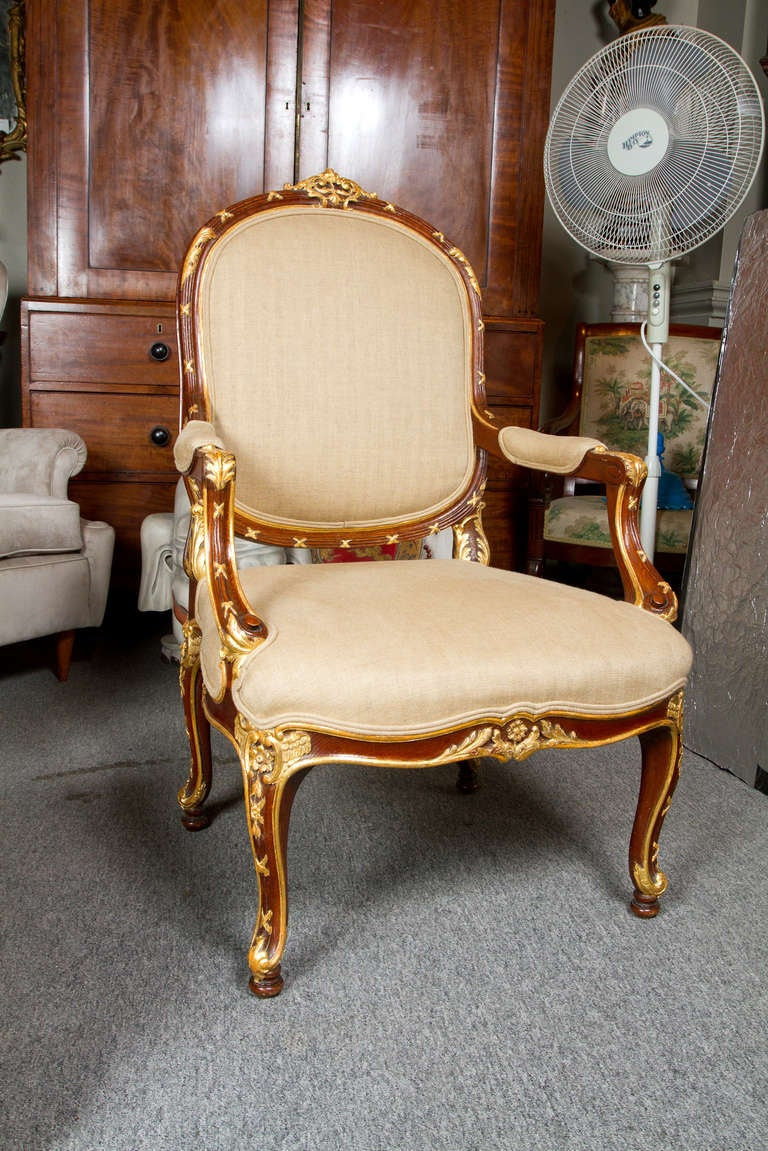 Pair Louis XV Armchairs For Sale at 1stdibs