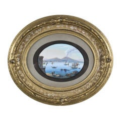 Gouache of the Bay of Naples