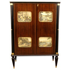 Midcentury Bar Cabinet in the Manner of Paolo Buffa