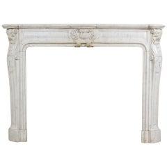 Louis XV - XVI Transitional Style Marble Mantel