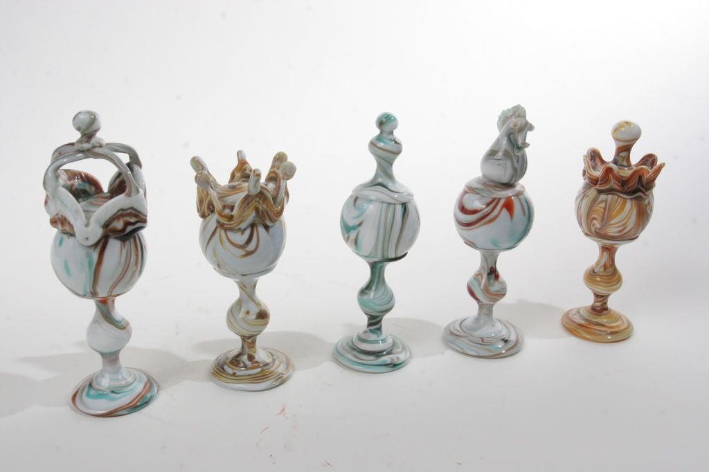 Art Glass Chess Set At 1stdibs