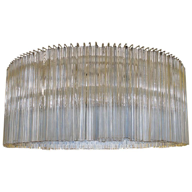 Large Venini Art Glass Chandelier