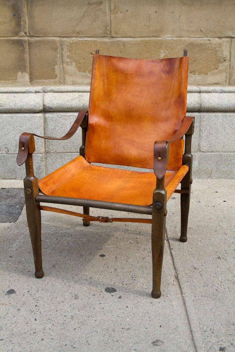 Rare Pair of Wilhelm Kienzle Safari Chairs at 1stdibs