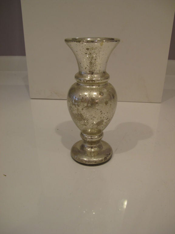 Pair Of Mercury Glass Vases At 1stdibs