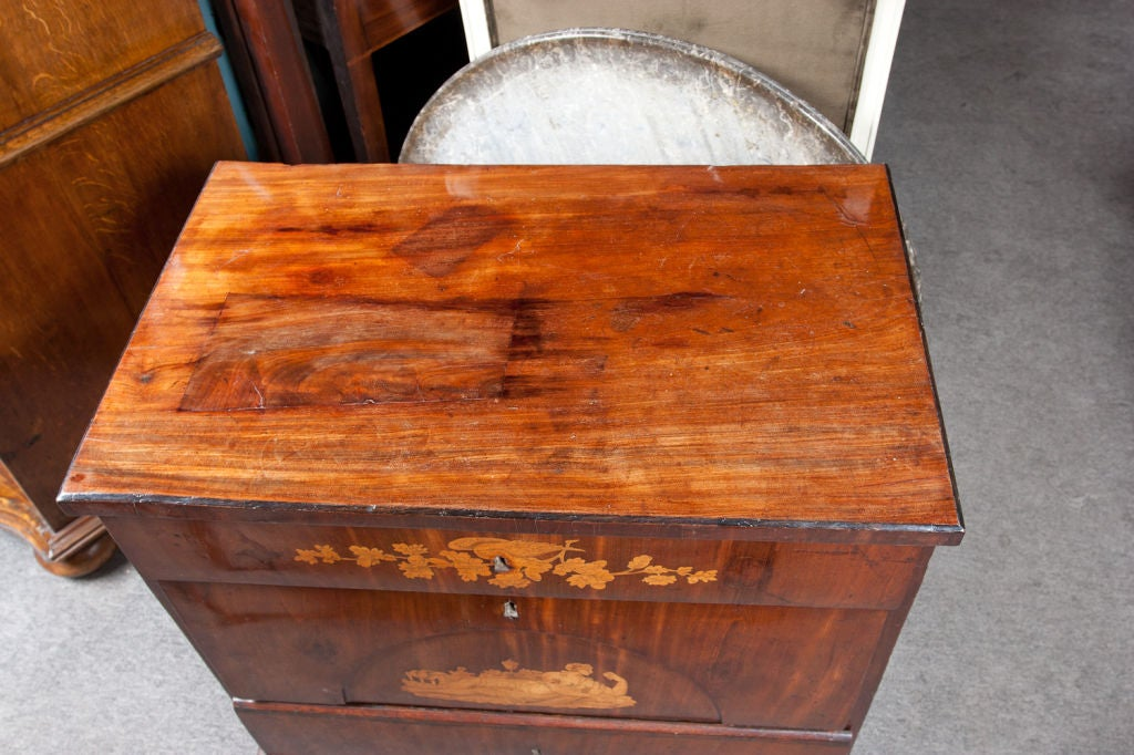 Danish Biedermeier Chest of Drawers In Good Condition For Sale In Montreal, QC
