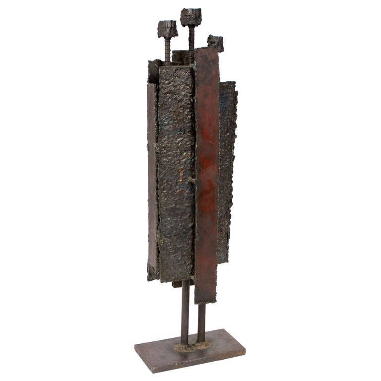 Brutalist Steel Sculpture