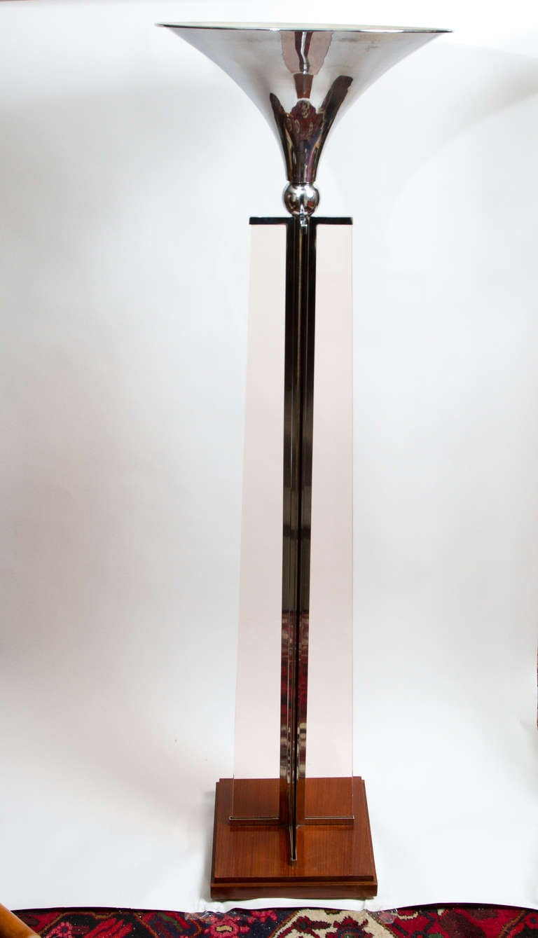 Art deco lamp by jacques adnet for sale at 1stdibs for Art deco floor lamp canada