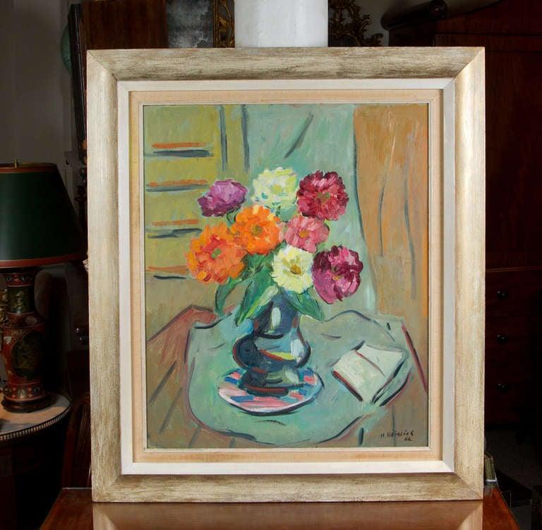 Painting by Herman Heimlich (1904-1986). Original period frame.