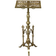 Neogothic Brass Lectern by Keith & Fitzsimons
