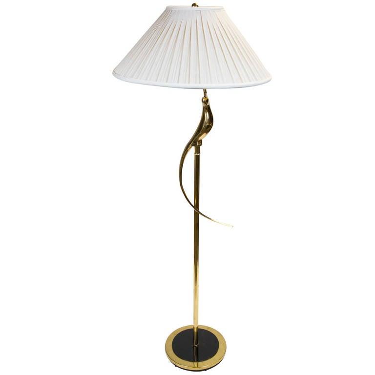 Elegant Brass Floor Lamp