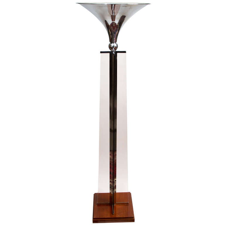Art deco lamp by jacques adnet at 1stdibs for Art deco floor lamp canada