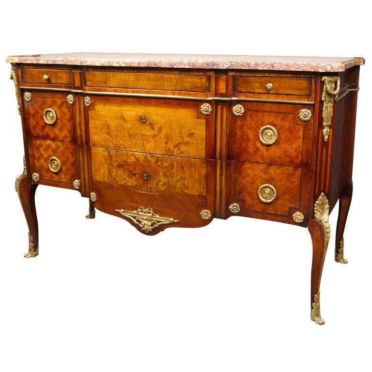 Louis XV - Louis XVI Transitional Style Commode