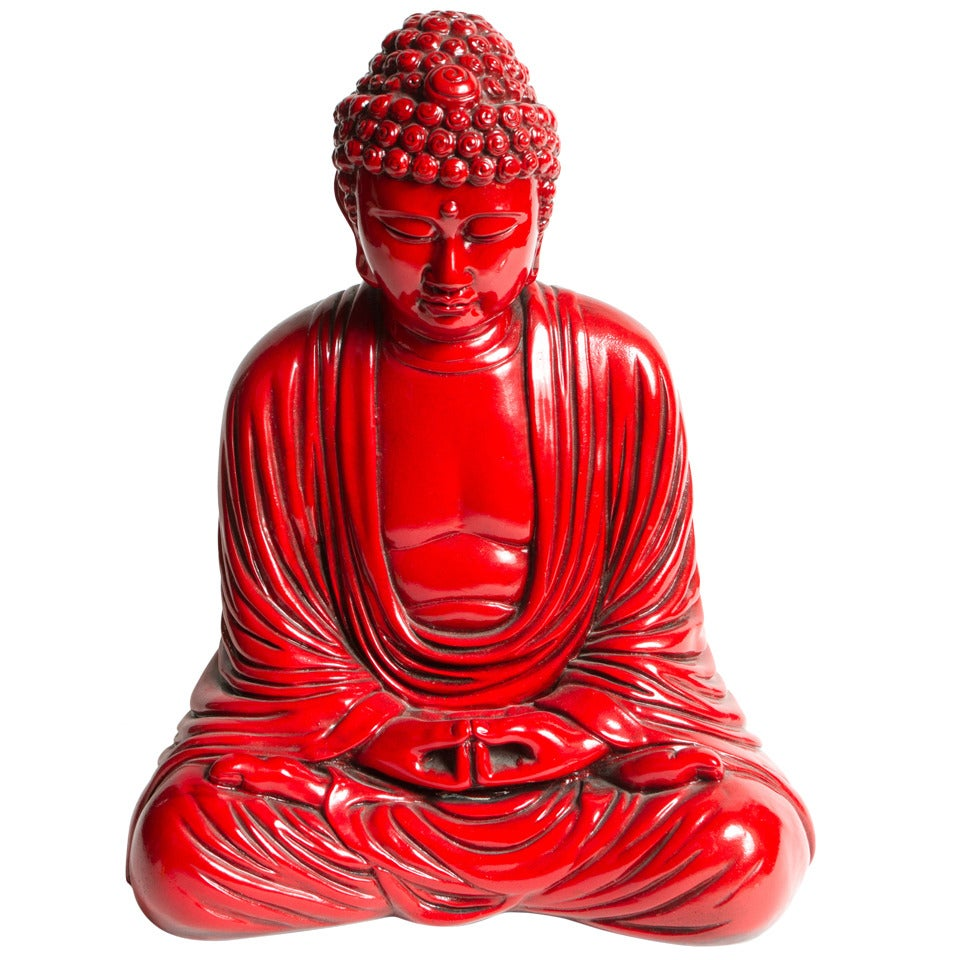 Interesting Red Buddha Statue 1