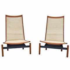 Impressive Pair of Midcentury Lounge Chairs