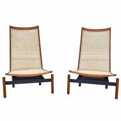 Impressive Pair of Midcentury Lounge Chairs