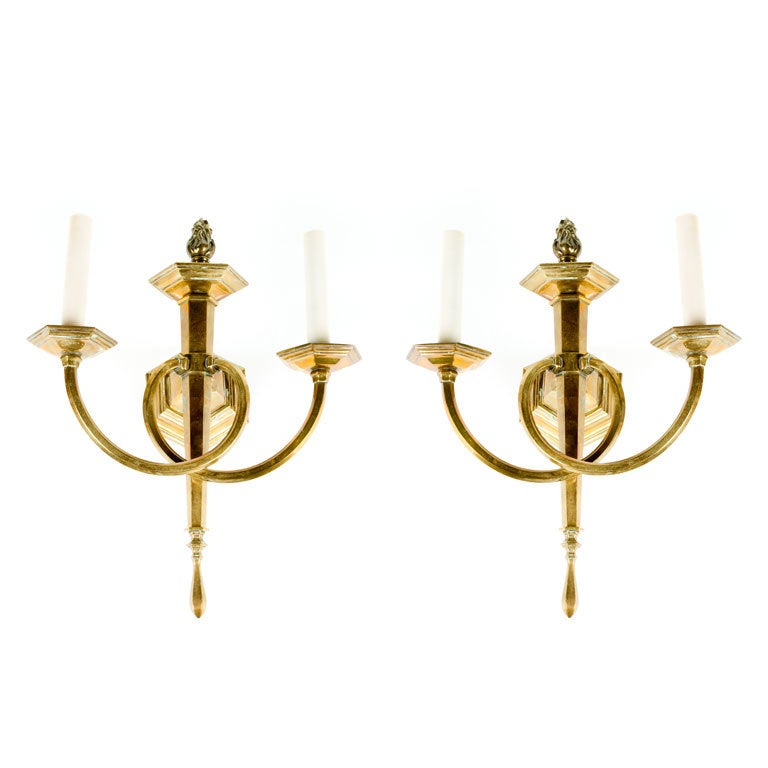 Wall Sconces Brass : Neoclassical Style Brass Sconces at 1stdibs