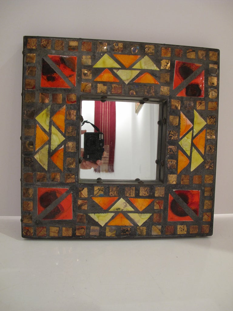 American Mosaic Mirror For Sale