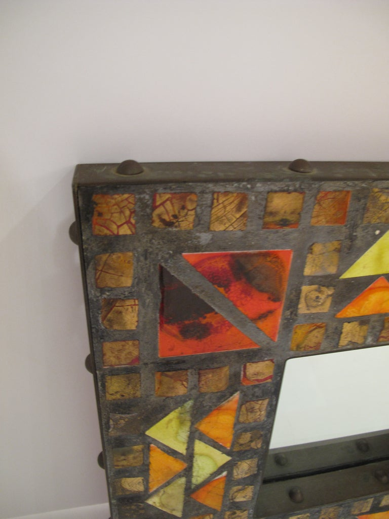 Mosaic Mirror In Excellent Condition For Sale In Montreal, QC