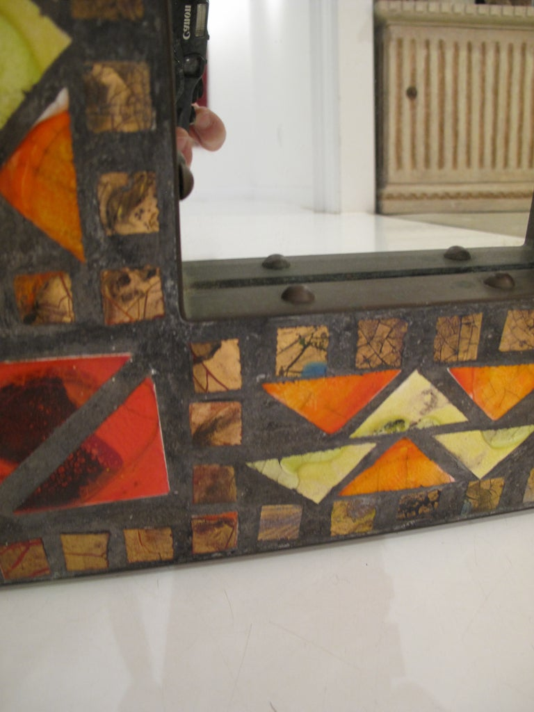 Late 20th Century Mosaic Mirror For Sale