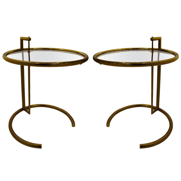 pair of occasional tables by eileen gray. Black Bedroom Furniture Sets. Home Design Ideas